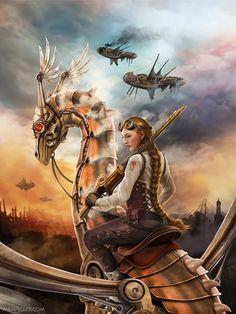 Clockwork Dragon 2by amarys~Steampunk Love •❀• From Airship Commander HG Havisham