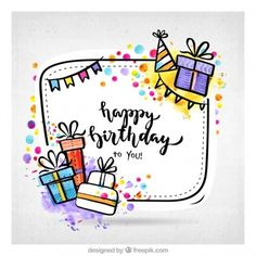 Are you looking for inspiration for happy birthday wishes?Check this out for unique happy birthday ideas.May the this special day bring you fun. Happy Birthday Doodles, Happy Birthday Drawings, Birthday Card Drawing, Happy Birthday Posters, Happy Birthday Signs, Birthday Letters, Happy Birthday Images, Happy Birthday Greetings, Birthday Gifts