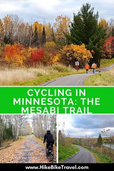 Cycling in Minnesota: The Mesabi Trail takes you from Grand Rapids to Ely, approx 120 mile through 28 mining communities Bike Trails, Hiking Trails, Cross Country Trip, Country Roads, Bike Path, Worlds Of Fun, Mountain Biking, Minnesota, Places To Go