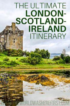 london scotland and ireland itinerary London itnierary England itinerary Scotland itinerary Ireland itinerary Cool Places To Visit, Places To Travel, Travel Destinations, Places To Go, England Ireland, England And Scotland, Scotland Travel, Ireland Travel, Dublin Ireland