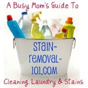 Stain-Removal-101.com: A Busy Mom's Guide To Cleaning, Laundry & Stains