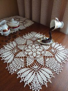 Your place to buy and sell all things handmade Crochet Mat, Crochet Dollies, Crochet Home, Hand Crochet, Doily Patterns, Crochet Patterns, Crochet Tablecloth, Beautiful Crochet, Yarn Crafts
