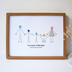 personalised family button print by mrs l cards | notonthehighstreet.com