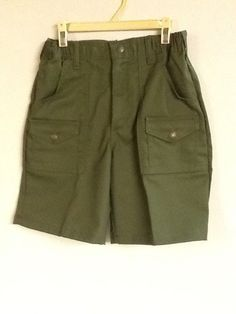 Boy Scouts Shorts Green Size 10 Waist or 25 Large XL Waist 42 Uniform New!  #BoysScoutsofAmerica #Shorts