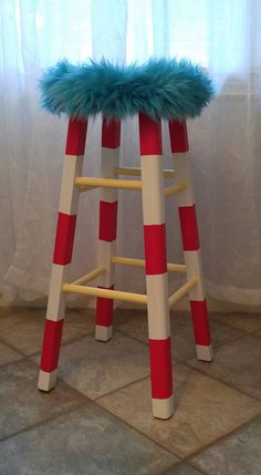 Beau Easy Way To Seuss Up An Old Stool!
