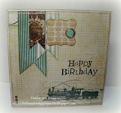 """Mannenkaart """"Happy Birthday"""