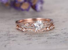 2st ronde Moisssanite bruids ring set diamond engagement