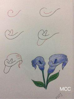 gala çiçeği çizme