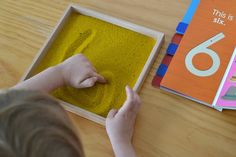 Montessori Number Work with Sand Tray