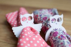 4 owl napkin rings laser cut perspex made to order by ByCharlie, $12.00