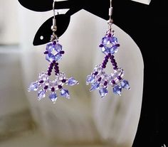 Free pattern for earrings Crocus | Beads Magic