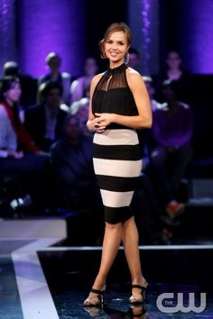 """Perfect Score -- """"The Rules of Love"""" -- Image Number: PS103_0310.jpg  Pictured: Host Arielle Kebbel -- Photo: Eddy Chen/The CW --  2013 The CW Network, LLC. All rights reserved."""