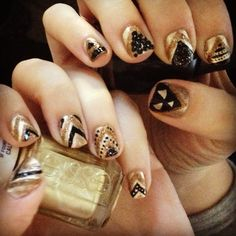 New Years nails 2013!
