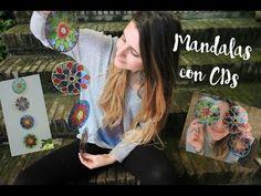 A reciclar los viejos CDs - Está Bueno Cd Crafts, Cd Art, Deco, Chakras, Craft Ideas, Youtube, Hand Crafts, Glass, Creative Crafts