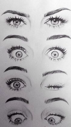 Looking At Drawings Of Eyes I Like The Cartoon Style In Which These