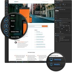 Build, publish & A/B test landing pages without I. - The mobile responsive landing page builder for marketers Create Landing Page, Best Landing Pages, Landing Page Builder, Mobile Responsive, Editor, Purpose, Apps, Graphic Design, Marketing