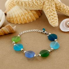 Sadie Green's Sea Glass Bead Bracelet