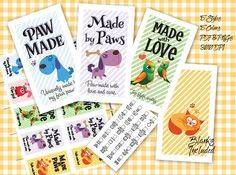 Laundry Care Tags Printables Laundry Care Tags Printables Pet Themed! 300 DPI  3-1/2 x 2  by MadMadGraphics