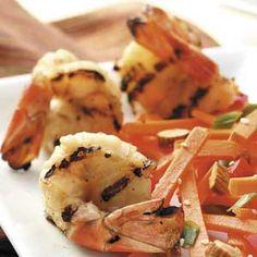 Grilled Lime-Teriyaki Shrimp
