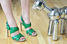 green strappies... seas of shoes!