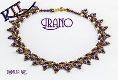 GRANO SuperDuo Beadwork Necklace Beading Kit (Instruction and Materials)