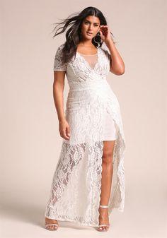 Denim and Lace Plus Size Bridesmaid Dresses