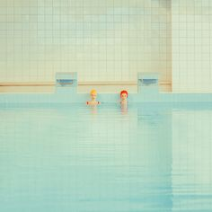 The Swimming Pool series is based on a 1970s inspired style.