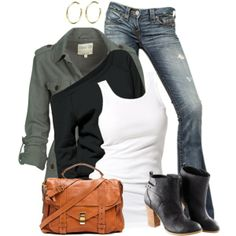 Love this, except the boots, only because I haven't worn heals in 12 years and can't do them anymore.