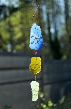 Suncatcher Sea Glass Copper Sun Catcher