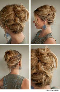 Beautiful hairatyle for blonde medium hair