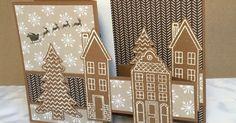 """Nochmal ein SU Set aus einem Weihnachtskatalog aus den Vorjahren, """"Aus dem Häuschen"""".     Die Häuser sind in weiß e..."""