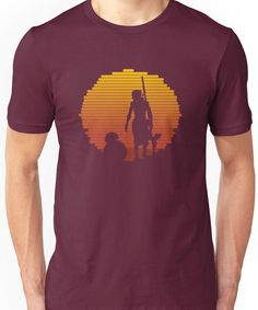 BB-8 & Rey : Jakku Sunset Unisex T-Shirt