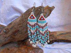 Hand Beaded Earrings Brick Stitch Beautiful by FaeMoonWolfDesigns, $27.00