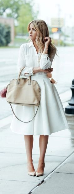 All white spring look