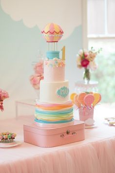 Carried Away Hot Air Balloon Birthday Party via Kara's Party Ideas KarasPartyIdeas.com #hotairballoonparty (6)
