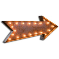 Urban Industrialists Large Vintage Letter Lights - Arrow Sign ($365) ❤ liked on Polyvore featuring home, lighting, wall lights, standing light, orange lamp, red lamp, arrow lighting and standing lights