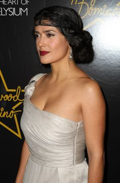 Actress Salma Hayek attends the Hollywood Domino game launch benefiting The Art of Elysium at The Edison Ballroom on November 9, 2008 in New York City.