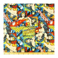 Wonder woman comic book fabric steering wheel cover geek car retro wonderwoman hero nerd justice league cotton