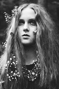 Ophelia in flowers