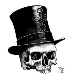 Photoshop Digital pen & ink for interior of Lucky Stiff by Tonia Brown Baron La Croix Voodoo Doll Tattoo, Voodoo Dolls, Top Hat Drawing, New Orleans Tattoo, Baron Samedi, New Orleans Voodoo, Skeleton Drawings, Horror Drawing, Card Tattoo