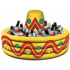 Inflatable Fiesta Cooler Description: Get this bright and colorful cooler to keep those drinks cold. This inflatable cooler measures approximately 20 high - Inflatable Cooler - Ideas of Inflatable Cooler Mexican Fiesta Birthday Party, Fiesta Theme Party, Mexican Party, Party Themes, Party Ideas, Taco Party, Mexican Fiesta Cake, Fiesta Games, Mexican Desserts