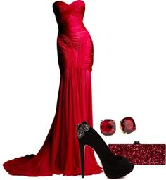 """Red Gown"" by erino9519 on Polyvore"