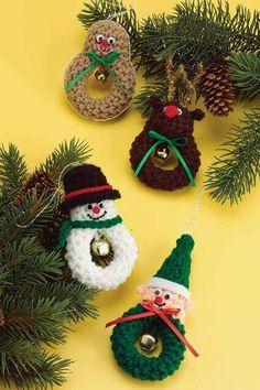 Hermosas coronas de personajes navideños