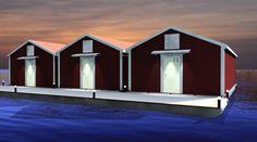 Floating boathouse, design Henning Ertzeid
