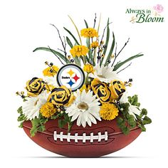 Steelers Blooming With Fan Pride Table Centerpiece