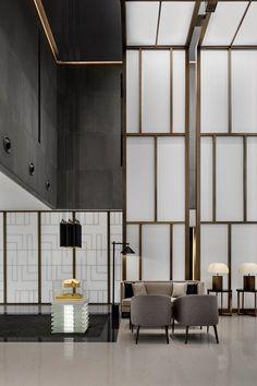 Glass Wall Design, Feature Wall Design, Ceiling Design, Interior Design Sketches, Office Interior Design, Corporate Interiors, Office Interiors, Office Reception Design, Hotel Reception