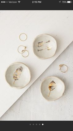 gold catch all's van picklepottery op Etsy