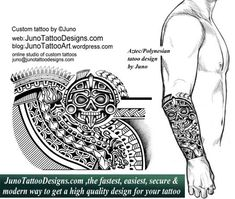 aztec-polynesian serpent tattoo forearm junotattoodesigns