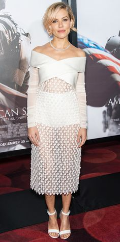 Look of the Day - December 16, 2014 - Sienna Miller in Balenciaga from #InStyle
