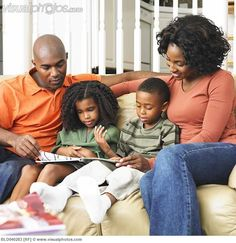 images of african american families -